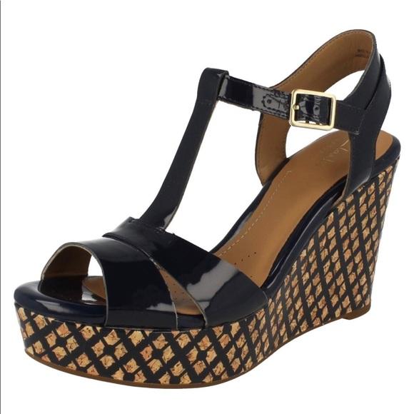 24354325af1 Ladies Clarks Wedge Platform Sandals Amelia Roma